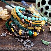 Украшения handmade. Livemaster - original item Bracelet BOHO-chic suede with stones