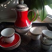Винтаж handmade. Livemaster - original item Vintage sets: coffee set. Handmade.