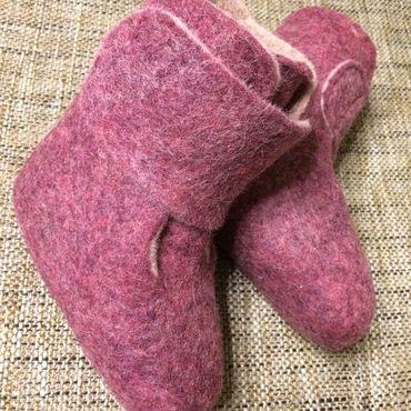 Обувь ручной работы. Ярмарка Мастеров - ручная работа Валенки пинетки для самых маленьких. Handmade.
