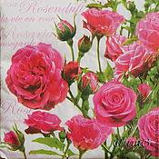 Материалы для творчества handmade. Livemaster - original item 2pcs napkins for decoupage rose flower print. Handmade.