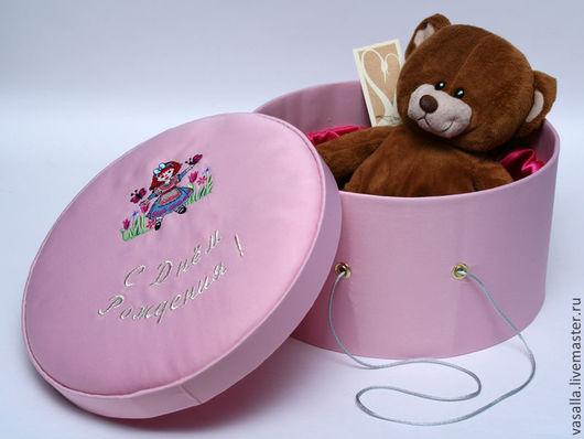 Подарочная упаковка ручной работы. Ярмарка Мастеров - ручная работа. Купить Подарочная коробка для девочки. Handmade. Розовый, рисунок