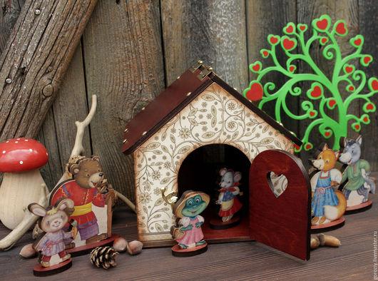 """Кукольный дом ручной работы. Ярмарка Мастеров - ручная работа. Купить Игровой набор """"Теремок"""". Handmade. Коричневый, игра, краснодар"""