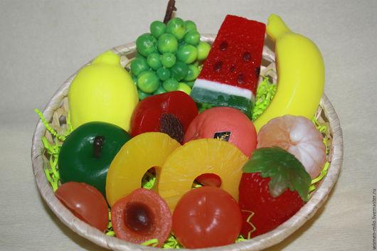 Подарочные наборы ручной работы. Ярмарка Мастеров - ручная работа. Купить корзина с фруктами. Handmade. Разноцветный, учителю, день рождения