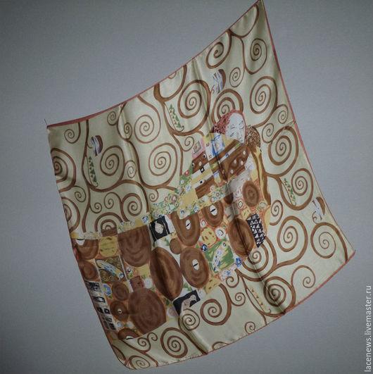 Винтажная одежда и аксессуары. Ярмарка Мастеров - ручная работа. Купить Платок Шарфик натуральный шелк 82Х82 см новый. Handmade.