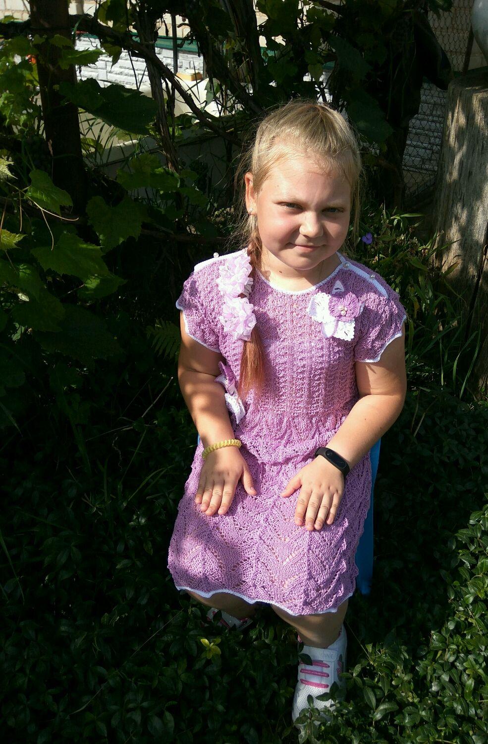Ажурное платье ручной работы, Одежда для девочек, Лебедянь, Фото №1