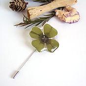 Украшения handmade. Livemaster - original item Brooch-Needle Sourdough Real Leaf Resin Jewelry Boho Brooch. Handmade.