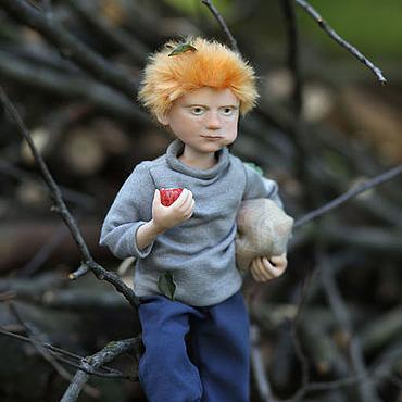 Куклы и игрушки ручной работы. Ярмарка Мастеров - ручная работа Смешная куколка  Рыжий мальчишка. Handmade.