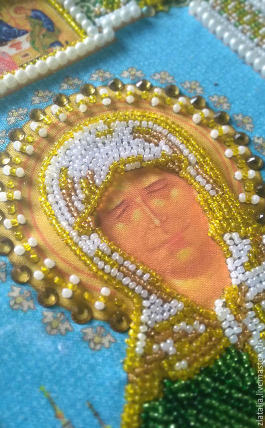 Вышивка бисером и стразами икона `Св. Матрона`