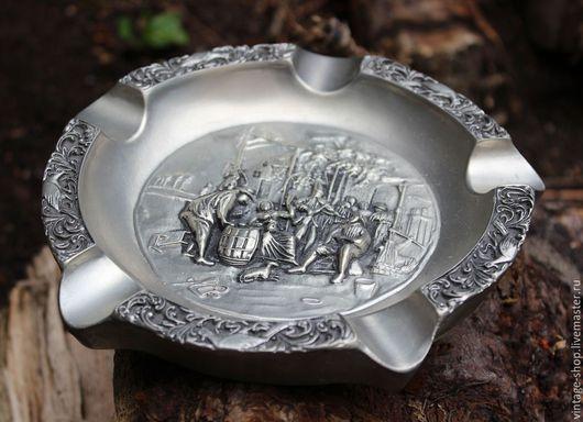 Винтажные предметы интерьера. Ярмарка Мастеров - ручная работа. Купить Пепельница для сигар, олово, ручная работа, Германия. Handmade. Серый