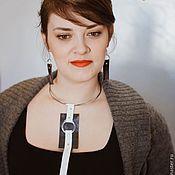 """Украшения ручной работы. Ярмарка Мастеров - ручная работа Колье """"Черно-белый круг"""". Handmade."""