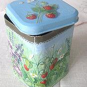 """Для дома и интерьера ручной работы. Ярмарка Мастеров - ручная работа коробочка для чая """"Травы"""". Handmade."""