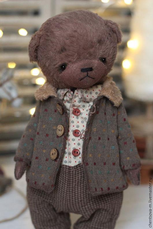 Мишки Тедди ручной работы. Ярмарка Мастеров - ручная работа. Купить Пашка... Handmade. Мишка тедди, коллекционные медведи, хлопок