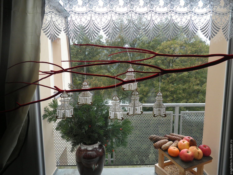 """Рождественская кружевная подвеска """"Церковь"""", Pendants for pots, Gera,  Фото №1"""