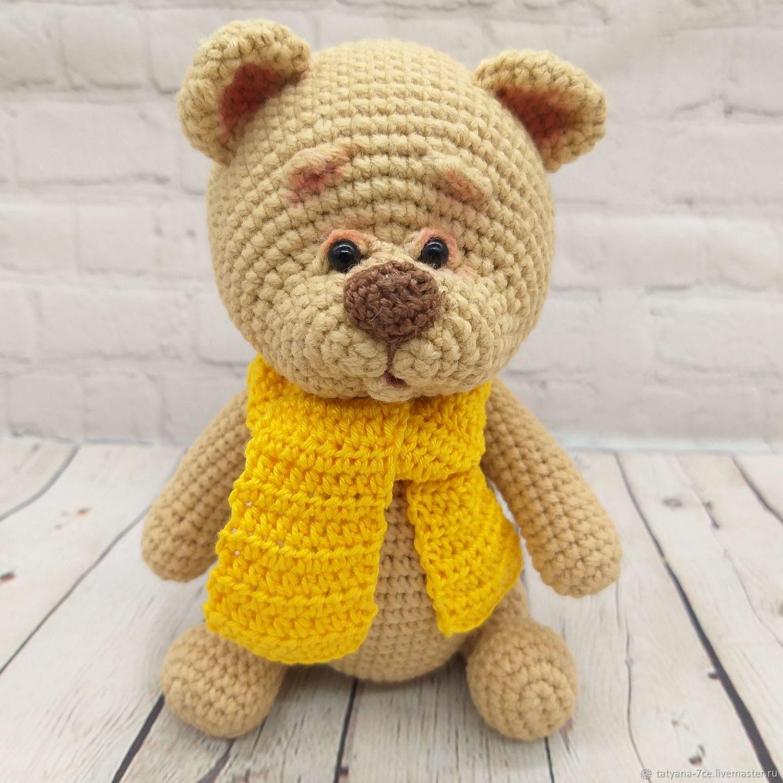 Мишка.Медведь амигуруми.Мишка крючком.Вязаный медведь, Мягкие игрушки, Волгоград,  Фото №1