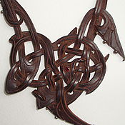 Украшения ручной работы. Ярмарка Мастеров - ручная работа Плетеное колье из кожи. Handmade.