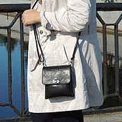 Сумки и аксессуары handmade. Livemaster - original item Crossbody bag: Black leather women`s handbag Sati Mod S57p-711. Handmade.