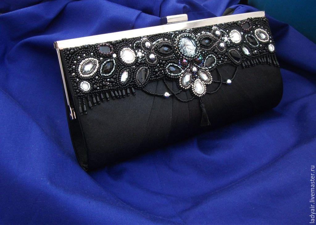 Сумка-клатч с вышивкой бисером 719