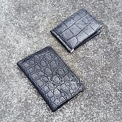 Сумки и аксессуары handmade. Livemaster - original item Purse for documents from genuine crocodile leather. Handmade.