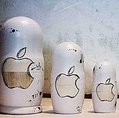 """Русский стиль ручной работы. Ярмарка Мастеров - ручная работа Матрешка авторская """"Apple"""". Handmade."""
