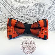 Аксессуары handmade. Livemaster - original item Bow tie Violin/ butterfly notes/ notes/ music/ butterfly with. Handmade.