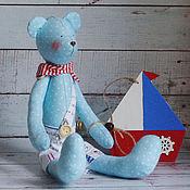 Куклы и игрушки ручной работы. Ярмарка Мастеров - ручная работа Мишка Тильда Моряк с корабликом. Handmade.