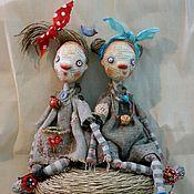 Куклы и игрушки ручной работы. Ярмарка Мастеров - ручная работа Куколки - пугалки Тут и Там. Handmade.