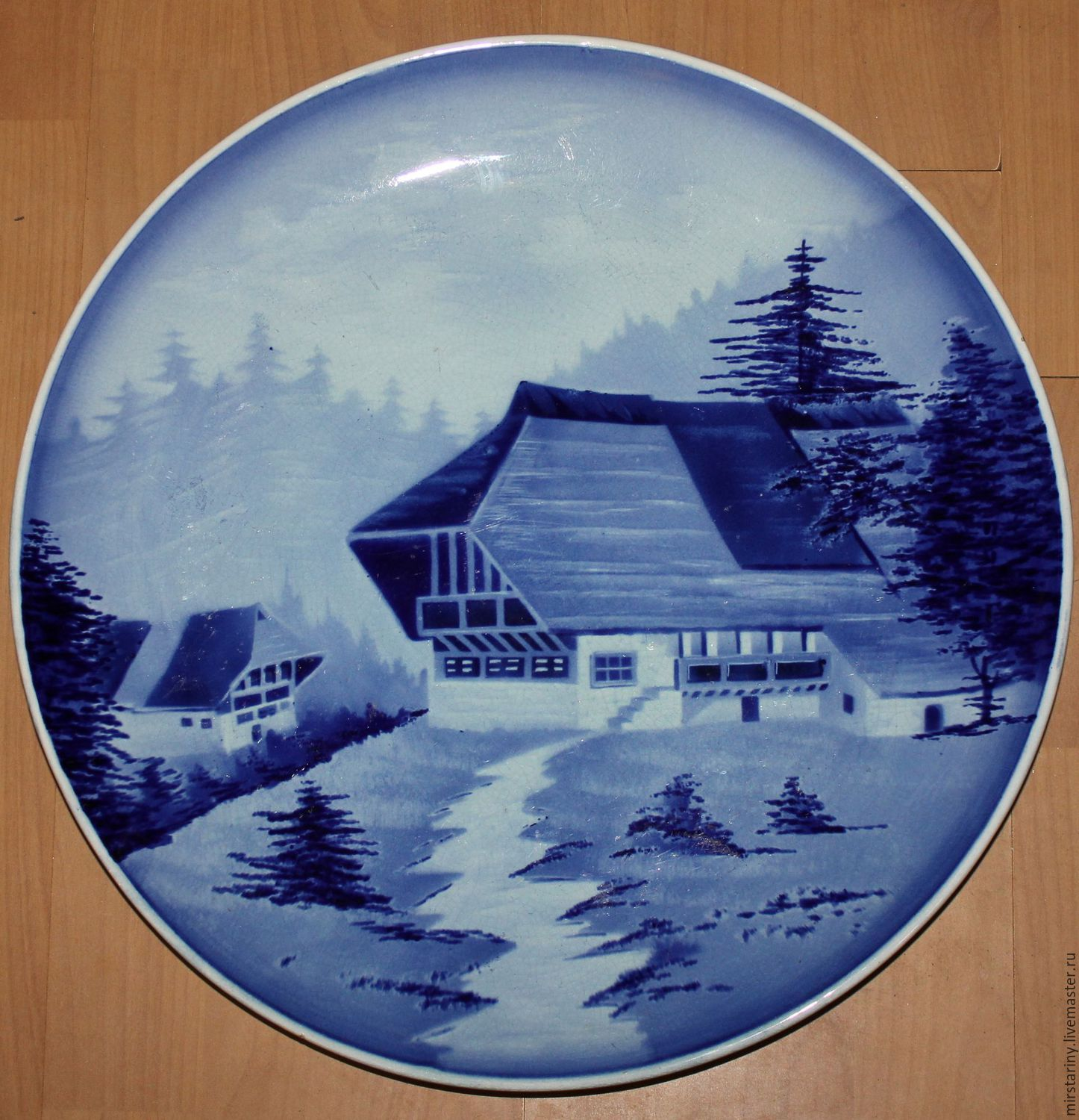Antique, Christmas plate, Hornberg, Germany, Vintage interior, Moscow,  Фото №1