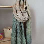 Аксессуары handmade. Livemaster - original item Stole scarf Diagonal green. Handmade.