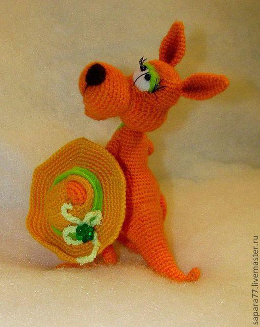 Игрушки животные, ручной работы. Ярмарка Мастеров - ручная работа. Купить кенгуру Ася. Handmade. Рыжий, авторская игрушка