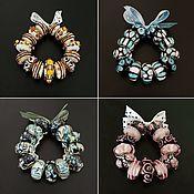 Материалы для творчества handmade. Livemaster - original item Pandora style charm set. Handmade.