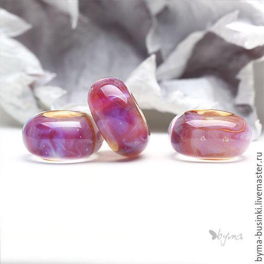 Бусины для браслетов розовые бусины лэмпворк