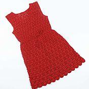 Работы для детей, ручной работы. Ярмарка Мастеров - ручная работа Платье Красное. Handmade.