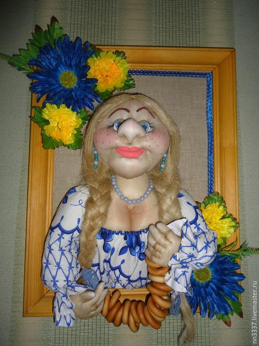 """Люди, ручной работы. Ярмарка Мастеров - ручная работа. Купить Картина 3D """"Домовица"""". Handmade. Разноцветный, подарок, куклы оптом"""