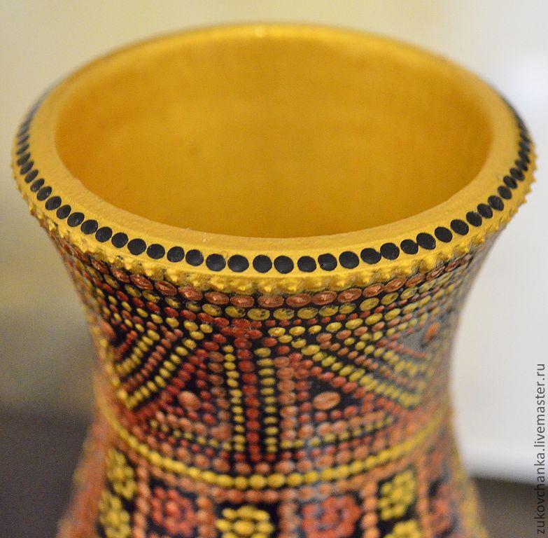 Ваза для сухоцветов (деревянная ваза для цветов)