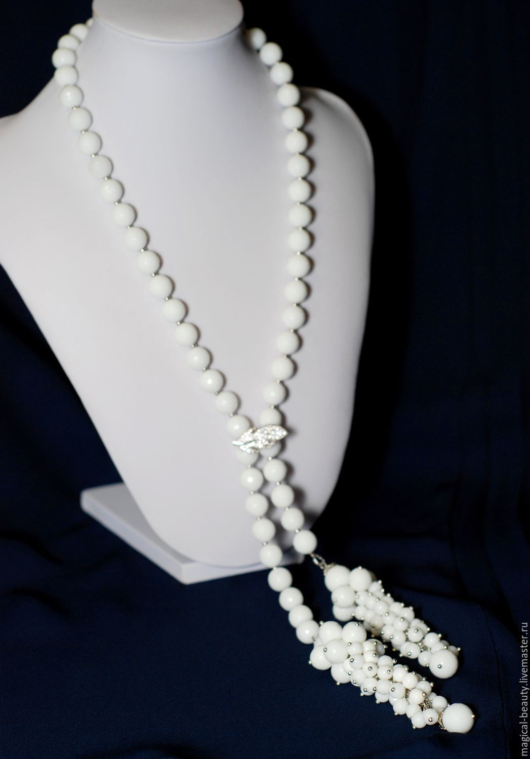 With pendant of agate 'White cherry', Necklace, Moscow,  Фото №1