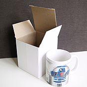"Материалы для творчества ручной работы. Ярмарка Мастеров - ручная работа коробка ""Белый крафт-2"" кубик, 11х11х12 см. Handmade."