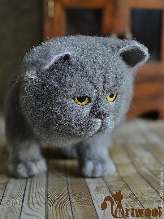 Игрушки животные, ручной работы. Ярмарка Мастеров - ручная работа. Купить Лунный кот. Handmade. Серый, британец