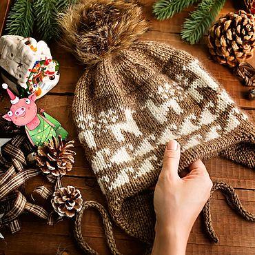 Одежда ручной работы. Ярмарка Мастеров - ручная работа Перуанская шапка с жаккардом. Handmade.