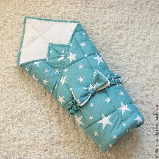 Для новорожденных, ручной работы. Ярмарка Мастеров - ручная работа. Купить Детское одеяло - конверт на выписку с бантом. Handmade.