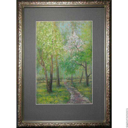"""Пейзаж ручной работы. Ярмарка Мастеров - ручная работа. Купить Картина пейзаж """"Аллея"""". Handmade. Комбинированный, портрет, пейзаж, натюрморт"""