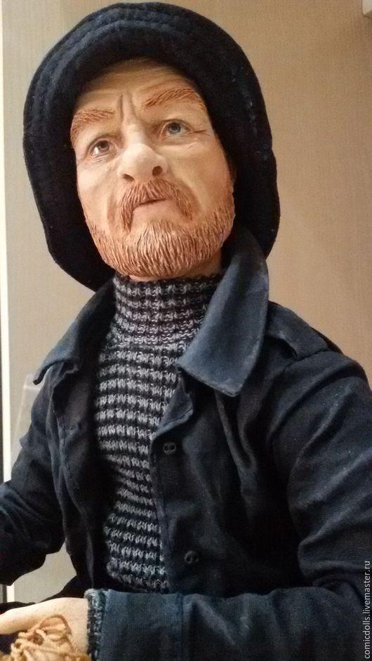 Коллекционные куклы ручной работы. Ярмарка Мастеров - ручная работа. Купить Хороший улов. Handmade. Коричневый, проволочный каркас