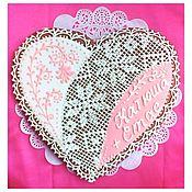 Gingerbread Cookies Set handmade. Livemaster - original item gingerbread wedding pink heart. Handmade.