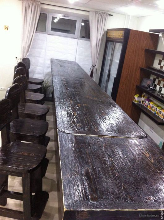 Столешница из дерева для бара на заказ