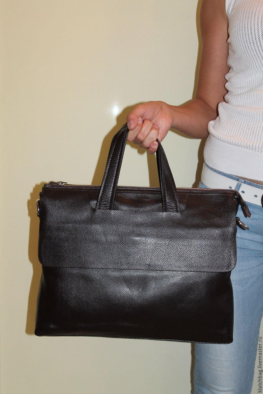 3406641ff05b ручной работы. Ярмарка Мастеров - ручная работа. Купить Городская мужская  кожаная сумка портфель. ...