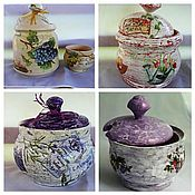 Для дома и интерьера handmade. Livemaster - original item Sugar bowls and shakers for kitchen