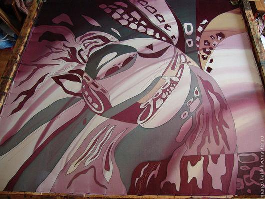 """Шали, палантины ручной работы. Ярмарка Мастеров - ручная работа. Купить Платок-батик """"Абстракция"""". Handmade. Батик платок, цветочный"""