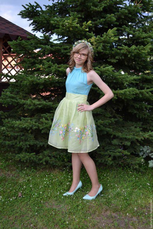 """Платья ручной работы. Ярмарка Мастеров - ручная работа. Купить Платье """"Полевые цветы"""". Handmade. Комбинированный, платье для вечеринки"""