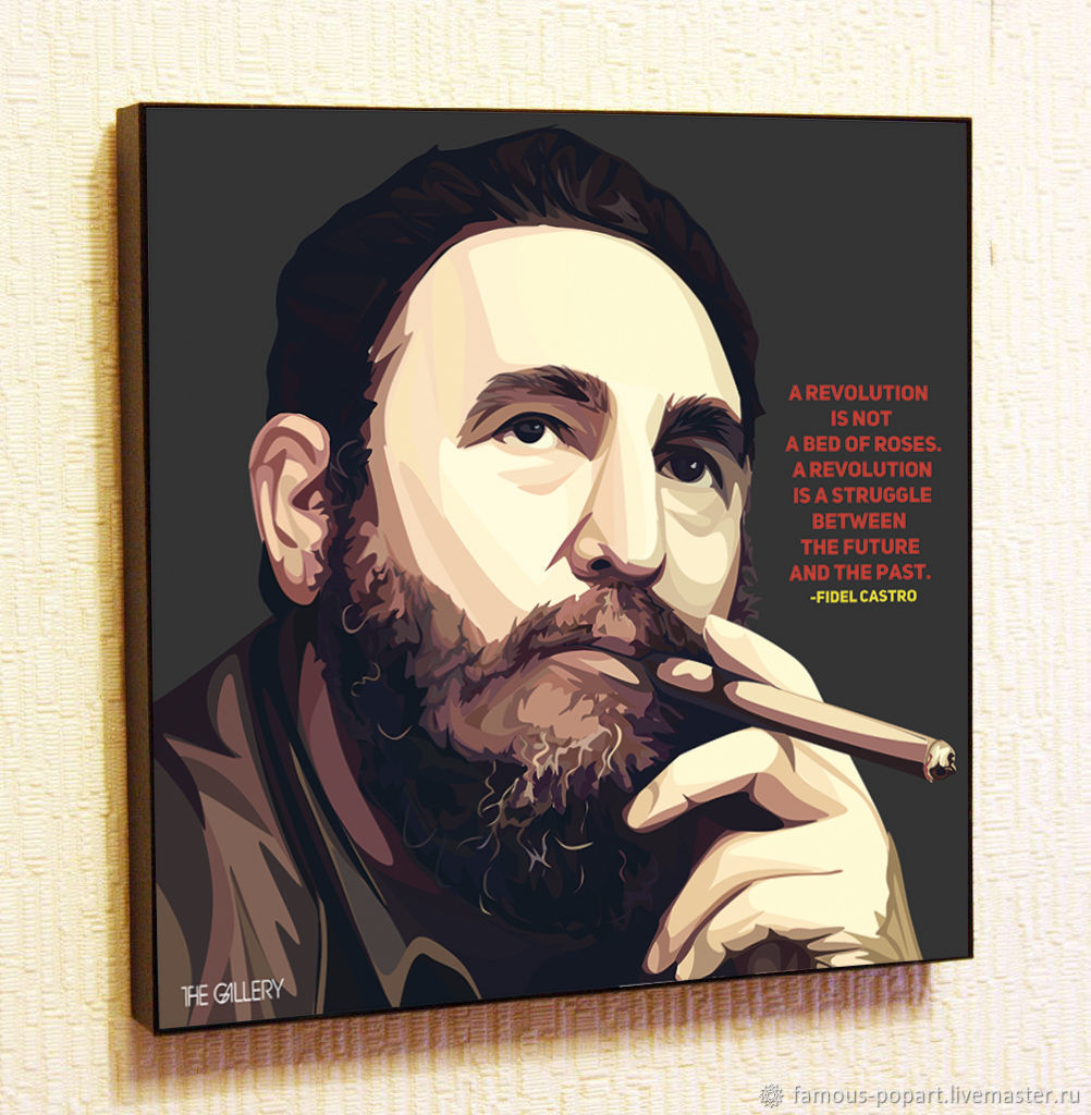 The Picture Is A Poster Of Fidel Castro Pop Art, Fine art photographs, Moscow,  Фото №1