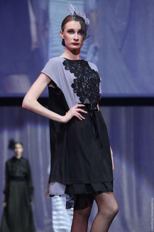 """Платья ручной работы. Ярмарка Мастеров - ручная работа. Купить платье черное короткое """"к светлому через темное"""". Handmade."""