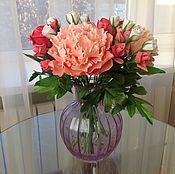 Цветы и флористика handmade. Livemaster - original item Bouquet of coral peonies. Handmade.